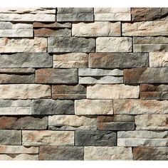 Manufactured Stone Panels - Mortarless - Stone Veneer Siding at Menards® Stone Veneer Exterior, Faux Stone Veneer, Stone Veneer Fireplace, Faux Stone Siding, Faux Stone Walls, Stone Fireplaces, Faux Brick, Stone Accent Walls, Fireplace Wall