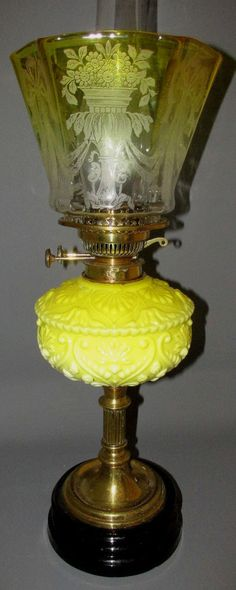 COMPLETE ORIGINAL VICTORIAN DUPLEX OIL LAMP & ORIGINAL SHADE | Antiques, Antique Furniture, Lamps | eBay!