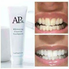 AP24 Whitening Toothpaste  Are you tired of hiding your smile ? I have the perfect product...  AP24 Whitening toothpaste gently cleanses and fight against plaque formation.  - Non abrasive - No peroxide - Vanilla Mint flavoured fluoride toothpaste.  For the price or more information just leave a comment below and I'll get back to you   Thank you ☺