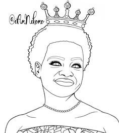 queen viola davis from the queens of black hollywood coloring book