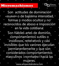 ¿Qué son los micromachismos? #Micromachismo #Micromachismos #mM