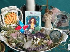 Hello Friends~ * I wanted to share some of the photos of my outdoor Imbolc Altar with you. I had this ritual for myself; and one indoors, l. Yule, Voyant Medium, Reiki, Tarot, Pagan Altar, Sabbats, Festival Lights, Winter Solstice, Book Of Shadows