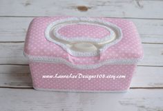 Pink and White Polka Dot Flip Top Boutique by LauraLeeDesigns108
