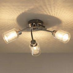 BuyJohn Lewis Sierra 3 Light Semi-Flush Ceiling Light, Chrome Online at johnlewis.com