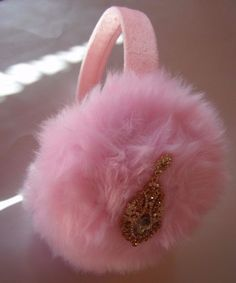 Scream Queens Ear Muffs Beige Billie Lourd Earmuffs Pearl Beaded Headband PINK #earmuffs #party