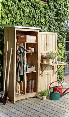 Amazing Shed Plans Garden Tool Cabinet Now You Can Build ANY Shed In A Weekend Even If You've Zero Woodworking Experience! Start building amazing sheds the easier way with a collection of shed plans! Diy Storage Shed Plans, Building A Storage Shed, Shed Building Plans, Diy Shed, Storage Ideas, Building Ideas, Loft Storage, Bike Storage, Outdoor Storage