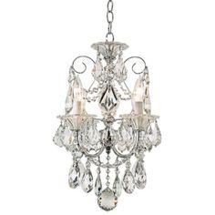 Schonbek Silver Palace Crystal Mini Chandelier