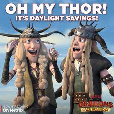 Remember to turn your clocks back! It's Daylight Savings! #DreamWorksDragons