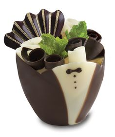 Kane Candy Tuxedo Chocolate Cups ~ Quick & Easy, Simply Fill & Serve! Great for dinner parties, weddings, graduations, holidays or any occasion!  www.KaneCandy.com