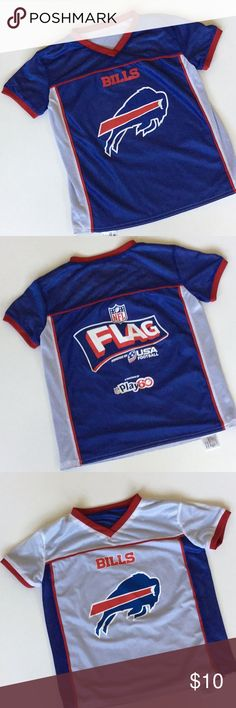 Kids Bills NFL Flag Football Jersey Youth Medium. Nfl Flag FootballNfl  ShirtsMesh ... dc268b4fe