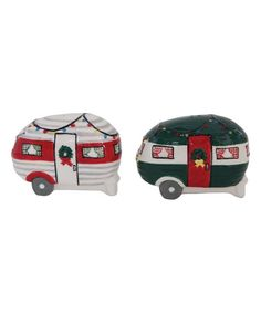 Look at this 'Merry Christmas'' Camper Salt & Pepper Shakers on #zulily today!