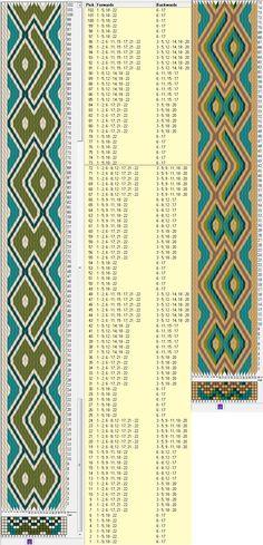 22 tarjetas hexagonales, 4 / 5 colores, repite cada 72 movimientos // sed_526_c6 diseñado en GTT༺❁