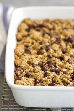 Whole Wheat Oatmeal Chocolate Chip Cookie Bars