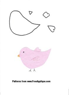 bird applique pattern