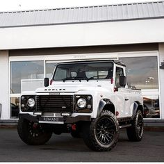 """1,718 Likes, 11 Comments - Land Rovers of London (@landroversoflondon) on Instagram: """"How cool is this!!? Awesome @bowlermotorsport Defender 90 pick-up for sale at @romansinternational…"""""""