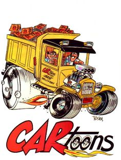 Was going through some boxes of car mags I have and came across this. Ed Roth Art, Cartoon Rat, Cartoons Magazine, Garage Art, Garage Signs, Rat Fink, Truck Art, Hippie Art, Kustom Kulture