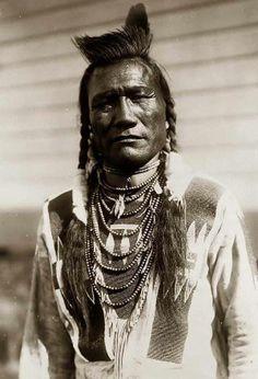 //...Edward S. Curtis...//  Bird Rattle, a Piegan man. 1908