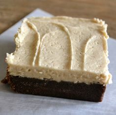 Peanut Butter Brownie Cake Squares - The View from Great Island