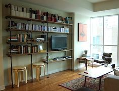DIY Shelves - Pipe Fittings by colorcrazy