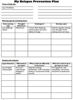 Printables Addiction Recovery Worksheets free worksheets google and relapse prevention on pinterest webiteback plan worksheet