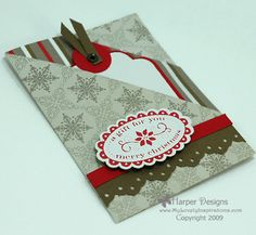 Christmas Gift Card Holder by nelnlv - Cards and Paper Crafts at Splitcoaststampers fun-fold gift card
