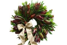 "18"" Sunset Protea Wreath, Dried"