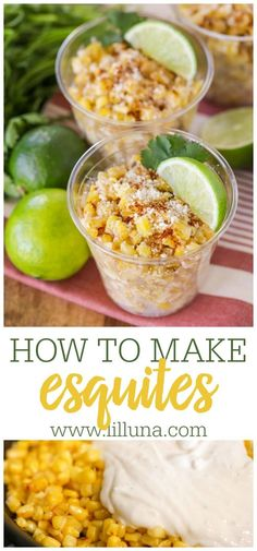 Esquites is a tasty corn salad topped with chili and cotija cheese. It's incredibly delicious and easy to whip up! #esquites #esquitesrecipe #mexicancorn Cotija Cheese, Mexican Corn, Salad Topping, Corn Salads, Chili, Tasty, Baking, Recipes, Chile