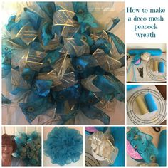 How-to Make a Peacock Wreath with Removable Ribbon Clusters