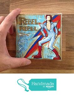 Original mini painting printed on stretched canvas / David Bowie - Rebel Rebel / 10 X 10 cm / Rock music painting / Rock n Roll art / cultural icon / Legend / birthday gift / Giclee prints from Artpopop https://www.amazon.com/dp/B075GY24ZS/ref=hnd_sw_r_pi_dp_TG7Wzb9J0TD2R #handmadeatamazon
