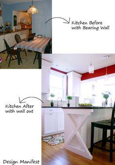 Design Manifest: kitchen before and after