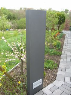 Stele / Sichtschutz 180 cm hoch und 50 cm breit mit licht