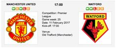 Watford F.C. (10th in Premier League) have never won at Old Trafford in the English Premier League. Their only victory there came in the League Cup in 1978, with both goals from Luther Blissett. Manchester United vs. Watford -  Premier League Preview & Tips Match Date: 11th February 2017 (local) Ve