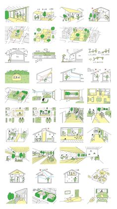 Architecture Concept Drawings, Green Architecture, Sustainable Architecture, Architecture Design, Landscape Architecture, Architectural Drawings, Urban Design Concept, Urban Design Diagram, Landscape Diagram