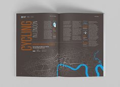Editorial Design Inspiration: Global Cities Report | Content Page Spread | Annual Report Design