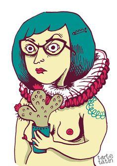 Selfportrait illustration fanzine Dans ta face Editions Terriennes Tarte tatin Mangez des tartes