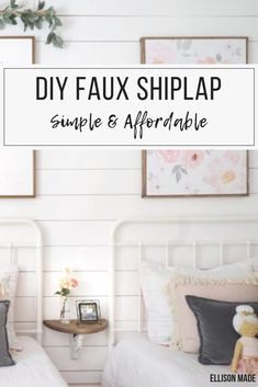A Simple and Affordable Faux Shiplap DIY Get the look of real shiplap without the expensive price tag. If you have (or can borrow) the right Farmhouse Remodel, Farmhouse Style Kitchen, Modern Farmhouse Kitchens, Farmhouse Decor, Diy Kitchen, Kitchen Remodel, Cute Dorm Rooms, Cool Rooms, Decorating Your Home