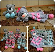 Image gallery – Page 575616396115599869 – Artofit Crochet Security Blanket, Crochet Lovey, Lovey Blanket, Crochet Patterns Amigurumi, Baby Blanket Crochet, Crochet Dolls, Knit Crochet, Baby Crafts, Crochet For Kids