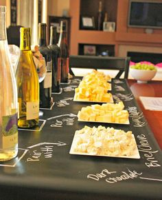 Sew Much Sunshine [to the square inch]: Wine Cheese Party: Golden Birthday Style Wine And Cheese Party, Wine Tasting Party, Wine Cheese, Wine Parties, Party Drinks, Party Favors, Red Sangria Recipes, Wine Recipes, Cheese Display