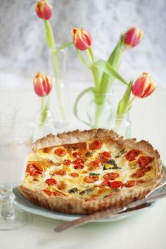 Mozzarellapaj med plommontomater - Mitt kök