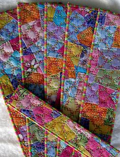 quilted bookmarks | Did you give any quilted gifts this Christmas?