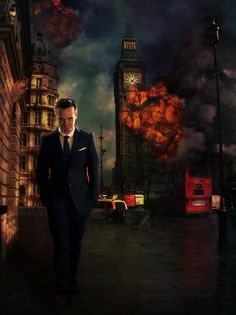 """Apparently some fan art from """"Sherlock"""" which I haven't seen. But I dig evil. >:3    Credit:  http://juunana.deviantart.com"""