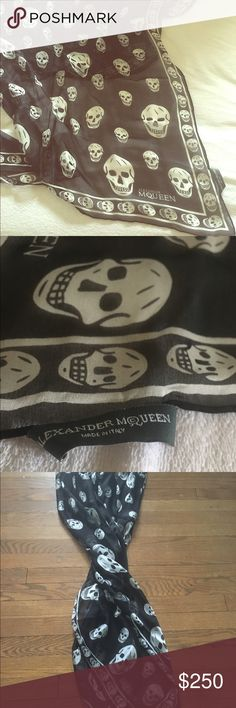 Alexander McQueen skull scarf Perfect condition. Took the tags off, thought I would wear it, but didn't. Retails for $295 plus tax. Accessories Scarves & Wraps