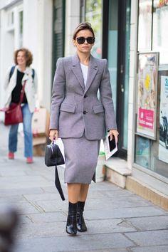 Miroslava Duma on the street at Paris Fashion Week. Photo: Chiara Marina Grioni/Fashionista.