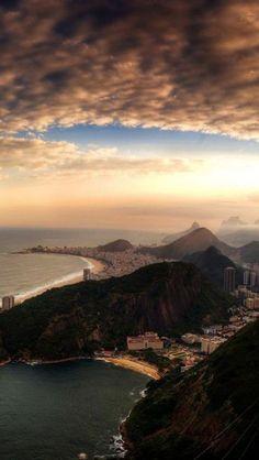 Rio De Janeiro, Brazil, Americas, Island, Ocean, Dusk