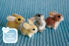 OOAK Needle felted miniature bunny rabbit Easter gift charm doll house / Made TO ORDER /  SaniAmaniCrafts de SaniAmaniCrafts en Etsy https://www.etsy.com/es/listing/225489031/ooak-needle-felted-miniature-bunny