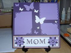 cute first pg in scrapbook replace Mom with Kylies name