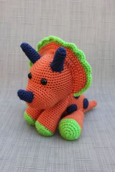 Dinosaur Stuffed Animal Toy  Crochet Dinosaur Amigurumi