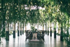 FOR THE RECEPTION || Event Design + Styling: The Style Co floral hanging installation || NOVELA BRIDE...where the modern romantics play & plan the most stylish weddings... www.novelabride.com (instagram: @novelabride) #novelabride #jointheclique