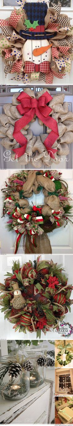 Christmas wreaths have been a part of the Christmas decoration tradition for a really long time. During the Christmas season, you are likely to see a fair share of Christmas wreaths everywhere you go. This Christmas, I want to make. Burlap Crafts, Wreath Crafts, Diy Wreath, Christmas Projects, Holiday Crafts, Burlap Wreaths, Wreath Ideas, Christmas Ideas, Diy Crafts