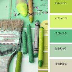 Paletas de #colores #Pantone: #verde #pastel #green